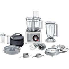 Bosch MC812S734G Food Processor, 1200 W, White/Stainless Steel, Up To 50 Functions, Xxl Bowl With 3.