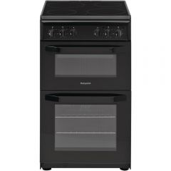 Hotpoint HD5V00KCB 50Cm Black Ceramic Twin Gas Cooker
