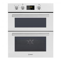 Indesit IDU6340WH Built Under Double Oven In White