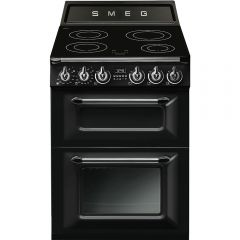 Smeg (Uk) Ltd TR62IBL 60cm Black Two Cavity Traditional Victoria Style Cooker with Induction Hob