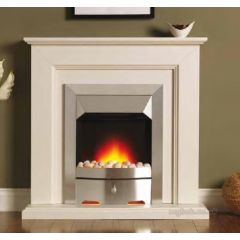 Valor 0723 Carlton Longlite Brass/Oak Fire + Surround