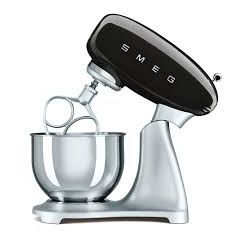 Smeg (Uk) Ltd SMF01BLUK Black 50`s Style Stand Mixer